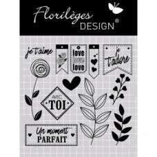 MOMENT PARFAIT AVEC TOI Clear stamps by Florilège
