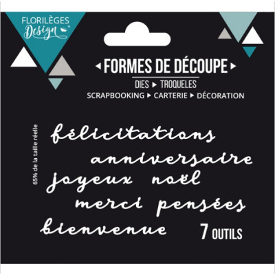Florilèges Design dies - Mots de carterie