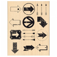 MULTI FLÈCHES-  Wood Mounted Stamp Florilèges Design