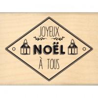 NOËL AUX LANTERNES - Florilège Tampon monté sur bois