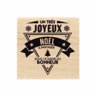 NOËL BONHEUR -  Wood Mounted Florilège Stamp