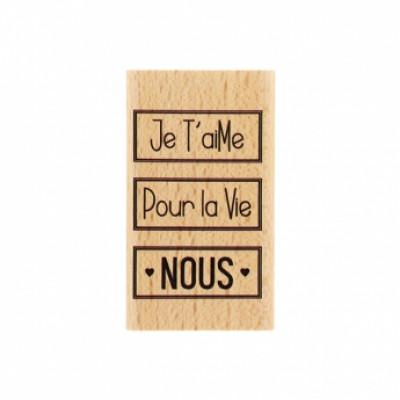 NOUS POUR LA VIE -  Wood Mounted Florilège Stamp