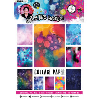 Art By Marlene A4 Collage Paper Pad Out of This World nr.14 patterned colour