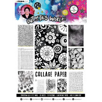 Art By Marlene A4 Collage Paper Pad Out of This World nr.15 Black and White