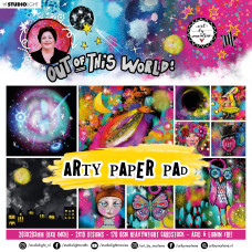 Art By Marlene 20 x 20 cm Arty Paper Pad Out of This World nr.16