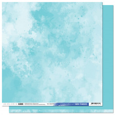 Collection Back to Basics A contre courant - Les Ateliers de Karine - Scrapbooking paper 10 Sky Blue