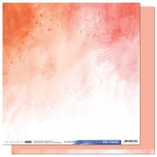 Collection Back to Basics A contre courant - Les Ateliers de Karine - Scrapbooking paper 11 Coral