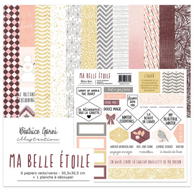 Ma belle étoile paper collection by Béatrice Garni