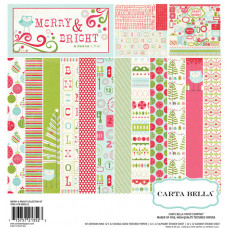 Merry & Bright collection of papers and embellishments - Carta Bella
