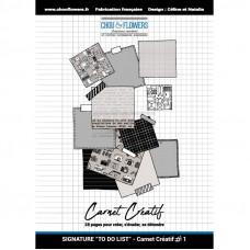 Chou & Flowers Carnet Créatif - To Do List