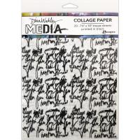 Dina Wakley Media Collage Tissue Paper - Just words