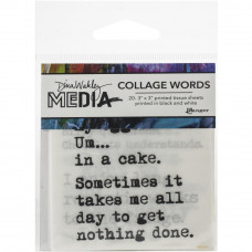 Dina Wakley Media Collage Tissue Paper - Word sayings 3
