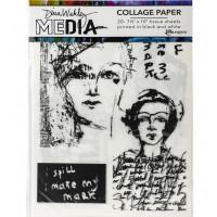 Dina Wakley Media Collage Tissue Paper - Vintage & Sketches