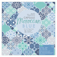 PaperMania Collection Capsule Moroccan Blue - 30,5 X 30,5 cm scrapbooking paper