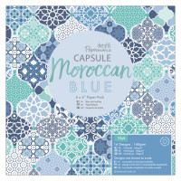 PaperMania Collection Capsule Moroccan Blue - 15 X 15 cm scrapbooking paper