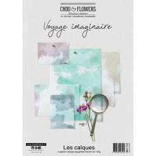 Chou & Flowers A4 vellum papers - Voyage Imaginaire watercolour effects