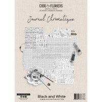 Chou & Flowers Journal Chromatique Collection - A4 papers Black and White