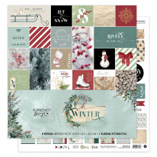 Collection scrapbooking paper by Florilèges Design - Oh Winter