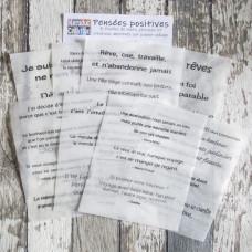 Collage Tissue Paper - Pensées positives - exclusive to Kerudoc Création