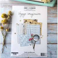Chou & Flowers collection of 18 A4 papers Junk - Voyage Imaginaire