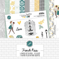 French Kiss - scrapbooking paper collection from Mes p'tits ciseaux