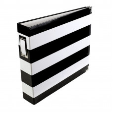 "Project life album 12"" x 12"" black & white stripe"