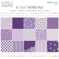 "Simply Creative Paper Pad 6"" x 6"" Floral Lace"