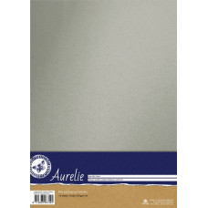 Aurelie Vintage Metallic Cardstock Platinum - 10 A4 sheets