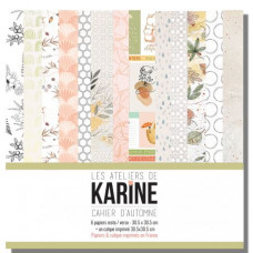 Collection scrapbooking of papers and vellum Cahier d'Automne - Les Ateliers de Karine