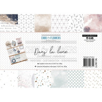 Chou & Flowers A4 Scrapbooking Papers - Dans la lune