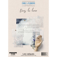 Chou & Flowers A4 Vellum Papers - Dans la lune