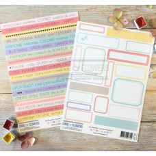 Chou & Flowers Journal Chromatique Collection - duo embellishment sheets