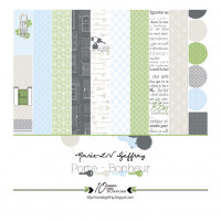 "Porte Bonheur - Collection of 12"" x 12"" papers by Marie LN Geffray"