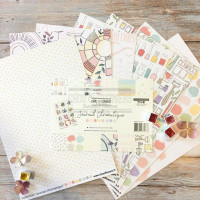 Chou & Flowers Journal Chromatique Collection - A4 patterned papers