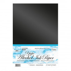 Couture Creations Yupo paper A4 sheet of 200g black