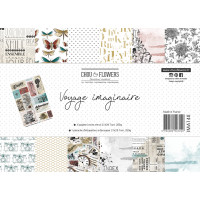 Chou & Flowers A4 papers - Voyage Imaginaire