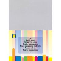 Transparent Acetate Sheets 5 x A4