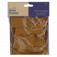 Papermania Bare Basics Envelope Bags Square Kraft