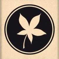 PASTILLE DE FEUILLE-  Wood Mounted Stamp by Florilèges Design
