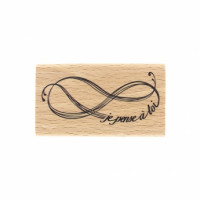 PENSÉE INFINIE-  Wood Mounted Florilège Stamp