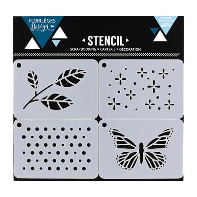Au naturel: Four stencils by Florilèges Design