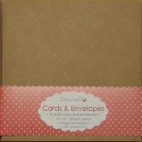 10 Dovecraft Cards and Envelopes - Square Kraft