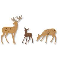 Sizzix Thinlits Dies - Woodland deer - Cerf des bois