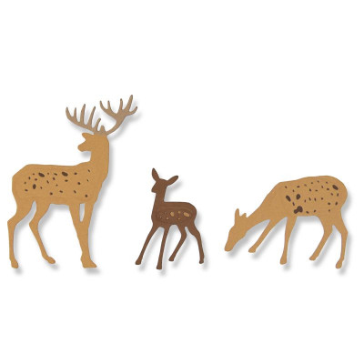 Sizzix Thinlits Dies - Woodland Deer