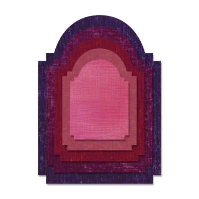 Sizzix thinlits die set - Tim Holtz - Stacked Archway
