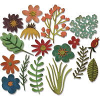 Funky Floral #1 Sizzix Thinlits Dies By Tim Holtz