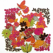 Chipboards Paillettés - Wild Blossom