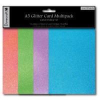 Cool Pastels - A5 Glitter Card Pack