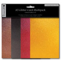 Contemporary Chic - A5 Glitter Card Pack