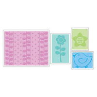 Spring Set Sizzix Textured Impressions Embossing Folders